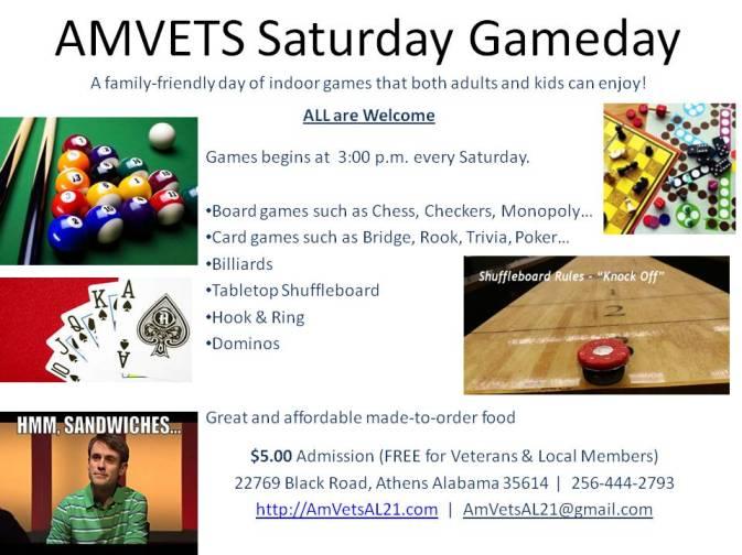 Flyer - Saturday Gameday