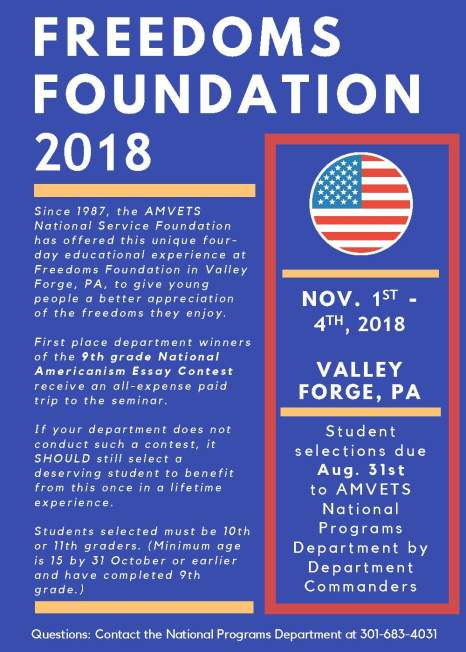 Freedoms Foundation 2018